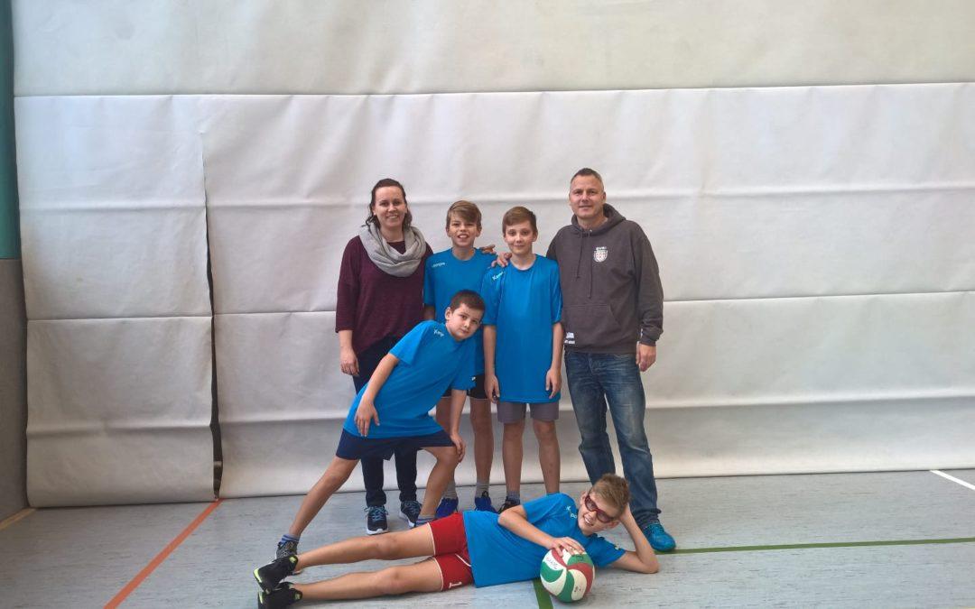 Volleyballer bei Jugend trainiert für Olympia